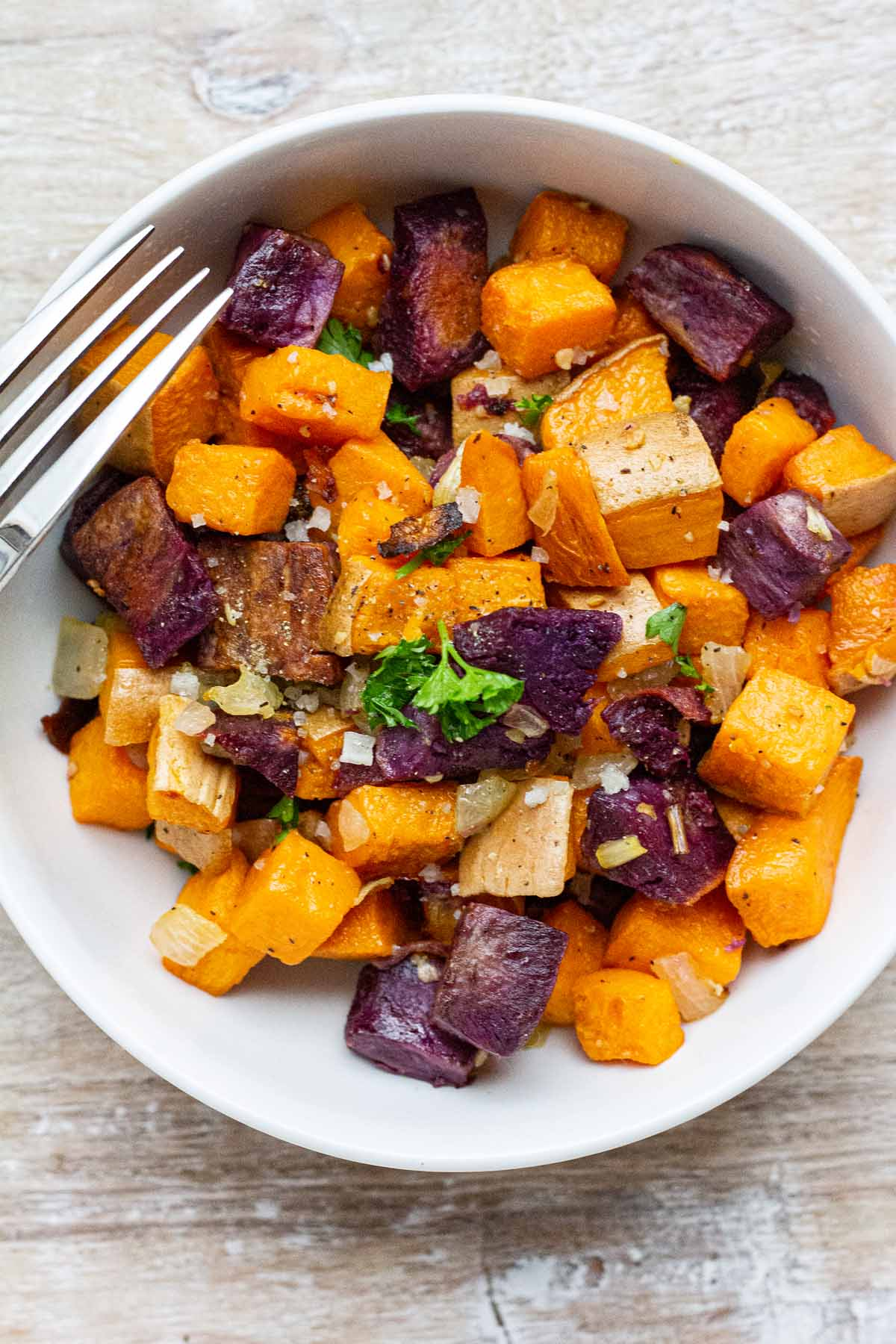 Broiled Sweet Potato Bites